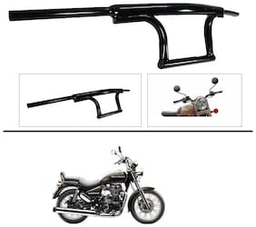AutoStark Bike Handle Bar Dual Triple Curved Pipe Handlebar Black for Royal Enfield Thunderbird 500