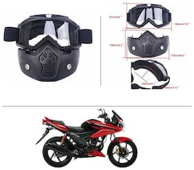 AutoStark Bike Scoter Motorcycle Protective Goggles Bike Face Mask Bike Face Shield (White Glass) For  Hero Ignitor