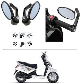 AutoStark Bike Rear View Mirror Set of 2 Black - Mahindra Gusto