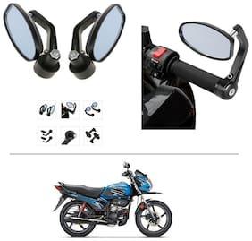 AutoStark Bike Rear View Mirror Set of 2 Black - Hero Passion Pro TR