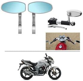 AutoStark Bike Rear View Mirror Set of 2 Chorme - Hero Hunk