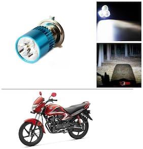 AutoStark Bike H4 3LED Bright Light Bulb White For Honda Dream Yuga