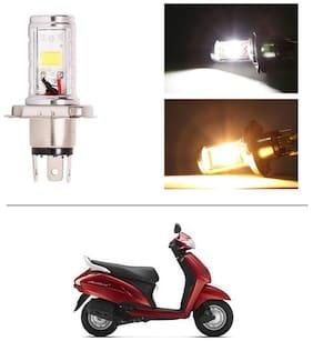 AutoStark Bike CYT Double Sided Headlight LED H4 White and Yellow- Honda Activa