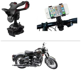AutoStark Bike Bicycle Motorcycle Mobile Cell Phone Holder Mount Bracket for Royal Enfield Classic 500