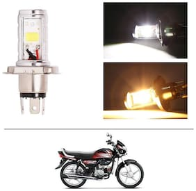 AutoStark Bike CYT Double Sided Headlight LED H4 White and Yellow- Hero HF Deluxe