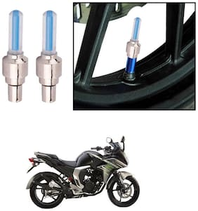 AutoStark Bike Tyre LED Light with Motion Sensor - Blue Color (Set of 2) Yamaha Fazer