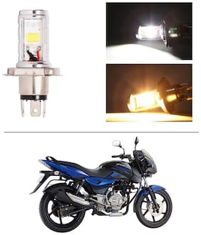 AutoStark Bike CYT Double Sided Headlight LED H4 White and Yellow- Bajaj Pulsar 150