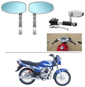 AutoStark Bike Rear View Mirror Set of 2 Chorme - Bajaj CT 100