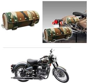 AutoStark Bike Round Saddle Bag Military -Royal Enfield Classic 500