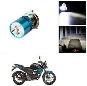 AutoStark Bike H4 3LED Bright Light Bulb White For Yamaha FZ-S