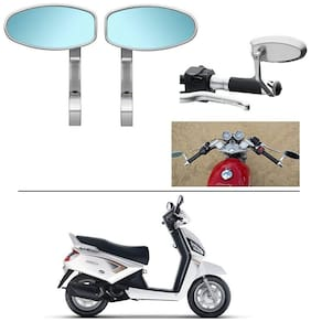 AutoStark Bike Rear View Mirror Set of 2 Chorme - Mahindra Gusto