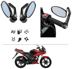AutoStark Bike Rear View Mirror Set of 2 Black - Hero Ignitor