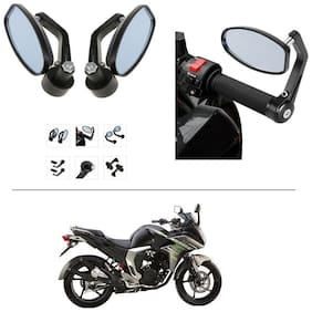 AutoStark Bike Rear View Mirror Set of 2 Black - Yamaha Fazer