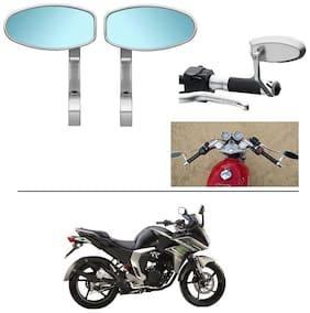 AutoStark Bike Rear View Mirror Set of 2 Chorme - Yamaha Fazer