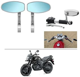 AutoStark Bike Rear View Mirror Set of 2 Chorme - Honda CB Trigger