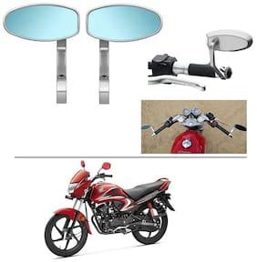 AutoStark Bike Rear View Mirror Set of 2 Chorme - Honda Dream Yuga