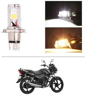 AutoStark Bike CYT Double Sided Headlight LED H4 White and Yellow- TVS Star City