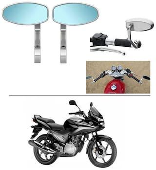 AutoStark Bike Rear View Mirror Set of 2 Chorme - Honda CBF Stunner