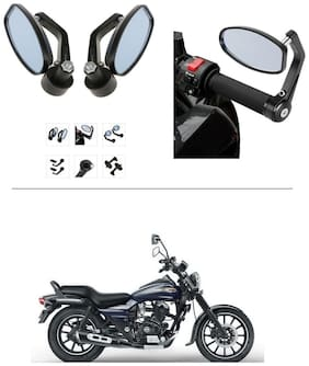 AutoStark Bike Rear View Mirror Set of 2 Black - Bajaj Avenger 150 Street