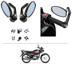 AutoStark Bike Rear View Mirror Set of 2 Black - Hero HF Deluxe