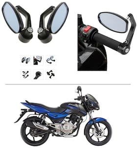 AutoStark Bike Rear View Mirror Set of 2 Black - Bajaj Pulsar 150 DTS-i