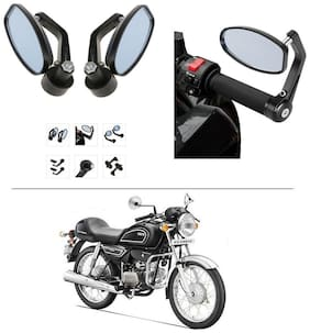 AutoStark Bike Rear View Mirror Set of 2 Black - Hero Splendor Pro Classic