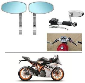 AutoStark Bike Rear View Mirror Set of 2 Chorme - KTM RC 390