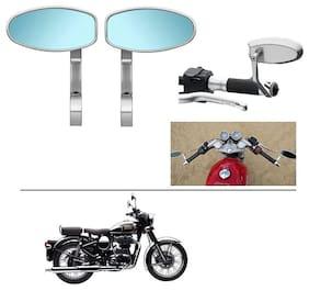 AutoStark Bike Rear View Mirror Set of 2 Chorme - Royal Enfield Classic Chrome