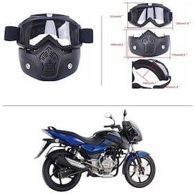 AutoStark Bike Scoter Motorcycle Protective Goggles Bike Face Mask Bike Face Shield (White Glass) For  Bajaj Pulsar 150