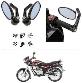AutoStark Bike Rear View Mirror Set of 2 Black - Bajaj Discover 125 DTS-i
