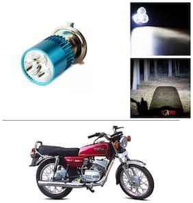 AutoStark Bike H4 3LED Bright Light Bulb White For Yamaha RX 100