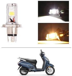 AutoStark Bike CYT Double Sided Headlight LED H4 White and Yellow- Honda Activa 3G