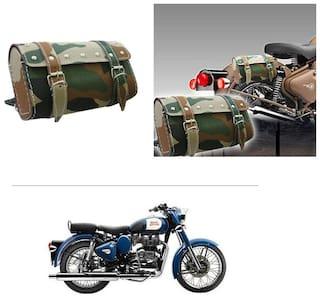 AutoStark Bike Rectangular  Saddle Bag Military -Royal Enfield Classic 350