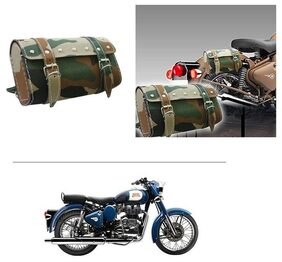 AutoStark Bike Rectangular  Saddle Bag Military -Royal Enfield Classic 350