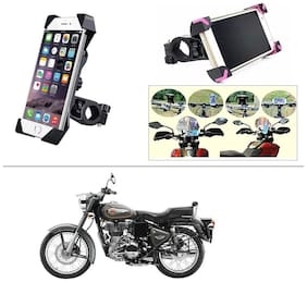 AutoStark Bike Holder 360 Degree Rotating Bicycle Holder Motorcycle cell phone Cradle Mount Holder for For Royal Enfield 500