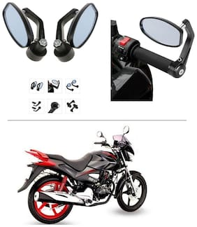 AutoStark Bike Rear View Mirror Set of 2 Black - Yamaha R15