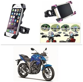 AutoStark Bike Holder 360 Degree Rotating Bicycle Holder Motorcycle cell phone Cradle Mount Holder for For Suzuki Gixxer