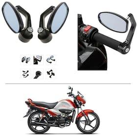 AutoStark Bike Rear View Mirror Set of 2 Black - Hero Splendor I Smart