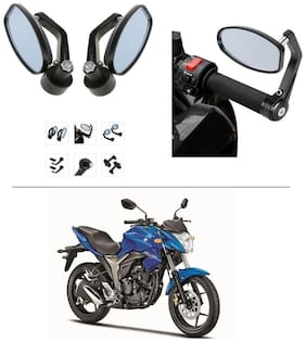AutoStark Bike Rear View Mirror Set of 2 Black - Suzuki Gixxer