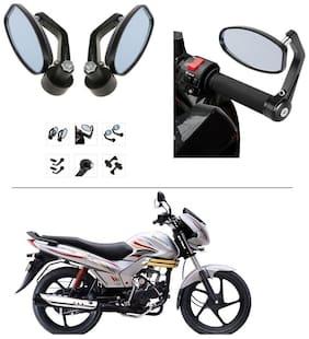 AutoStark Bike Rear View Mirror Set of 2 Black - Mahindra Centuro
