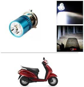 AutoStark Bike H4 3LED Bright Light Bulb White For Honda Activa