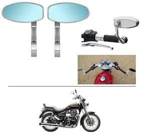 AutoStark Bike Rear View Mirror Set of 2 Chorme - Royal Enfield Thunderbird 500