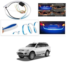 AutoStark Blue Light Car Tail Lamp Strip With Red Backlight And Flowing Indicators For Mitsubishi Pajero (Old)