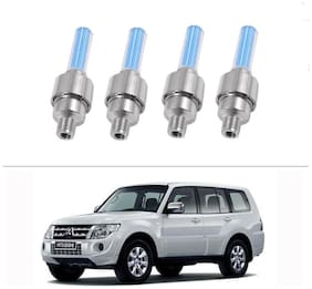 AutoStark Blue Car Tyre Led Light With Motion Sensor Set of 4 For Mitsubishi Montero