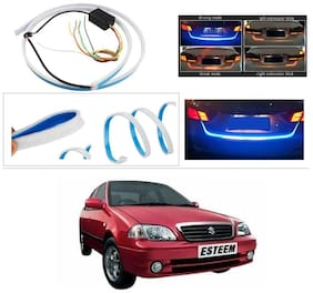 AutoStark Blue Light Car Tail Lamp Strip With Red Backlight And Flowing Indicators For Maruti Suzuki Esteem