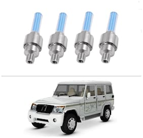 AutoStark Blue Car Tyre Led Light With Motion Sensor Set of 4 For Mahindra Bolero