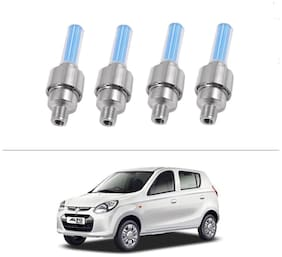 AutoStark Blue Car Tyre Led Light With Motion Sensor Set of 4 For Maruti Suzuki Alto-800