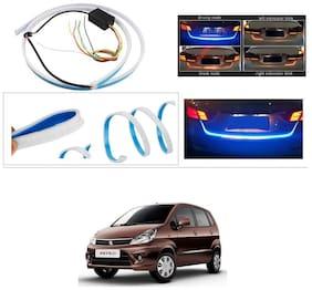 AutoStark Blue Light Car Tail Lamp Strip With Red Backlight And Flowing Indicators For Maruti Suzuki Zen Estilo