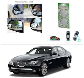 AutoStark Brand New Round Shaped Rear Side Blind Spot Mirror-BMW 5-Series Old - Butterfly Lights (520D, 525D, 530D, 535i, 530M)