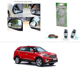 AutoStark Brand New Round Shaped Rear Side Blind Spot Mirror-Hyundai Creta